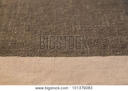 Texture Of Dark Coarse Fabric Macro