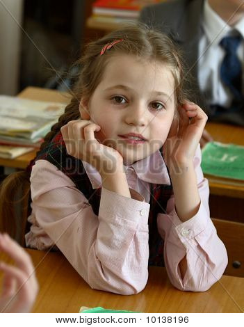 Girl at school