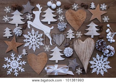 Many Christmas Decoration,Heart,Snowflakes,Tree,Present,Reindeer