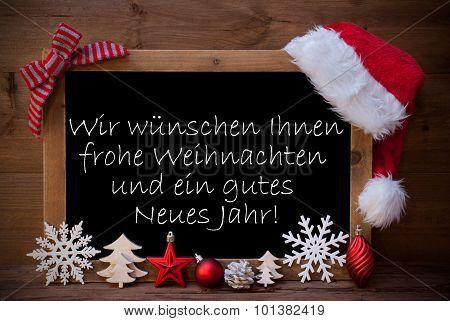 Brown Blackboard Weihnachten Neues Jahr Mean Christmas New Year