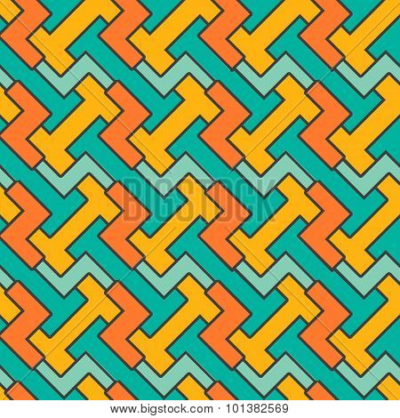 Geometric mosaic pattern.  seamless abstract vintage
