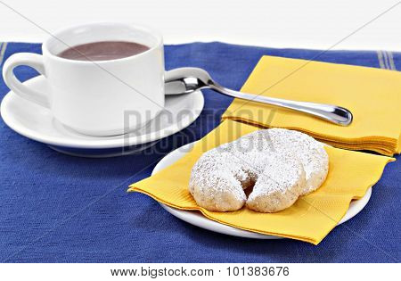 Mexican Wedding Cookies And Hot  Chocolate