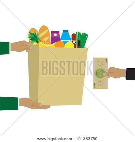 Concept For Grocery Delivery.