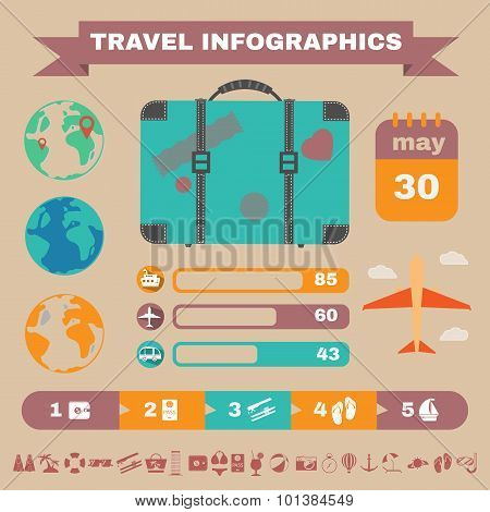 Colorful Travel Infographics.