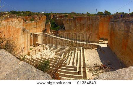 Quarry in Menorca (Spain)