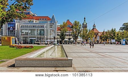 Scenes from main promenade in Sopot.