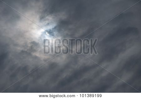 Solar Eclipse Of March 20, 2015 In  Veliky Novgorod, Russia