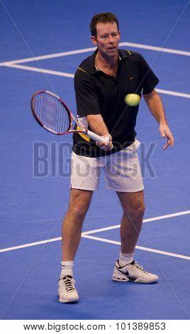 LONDON, ENGLAND. 04 DECEMBER 2009 -   Jeremy Bates (GBR)  during the AEGON Masters Tennis, Royal Albert Hall, London.