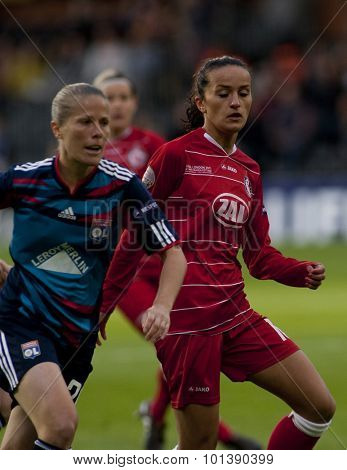 LONDON, ENGLAND. 26 MAY 2011 Potsdam's midfielder Fatmire Bajramaj during the 2011UEFA Women's Champions League final between FFC Turbine Potsdam and Olympique Lyonaise played at Craven Cottage Fulham