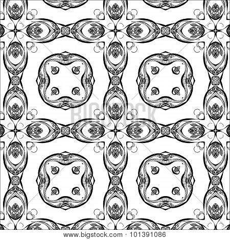 Primitive simple  grey retro seamless pattern