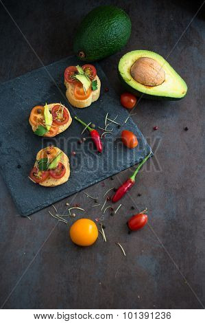Bruschetta With Avocado