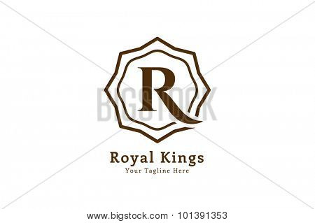 Royal logo vector template. Hotel logo. Kings symbol. Royal crests monogram. Kings Top hotel. Letter R logo. Royal hotel, Premium R brand boutique, Fashion R logo, Lawyer logo. Vintage style