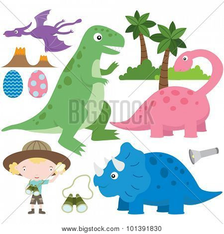 Cute Dinosaur Collection Set