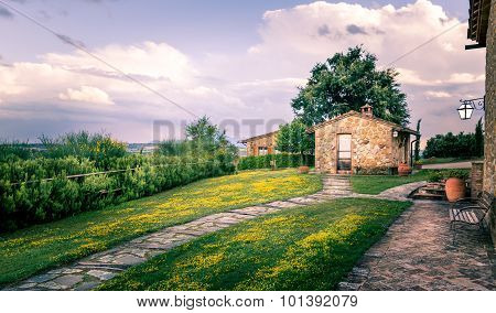 Countryside Scenery In Tuscany