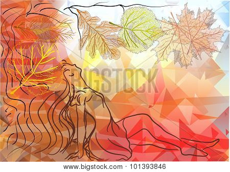 Woman And Autumn