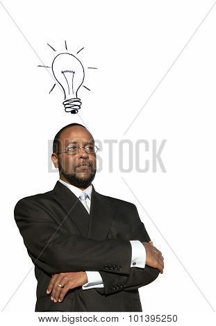 African American Business Man W Great Idea