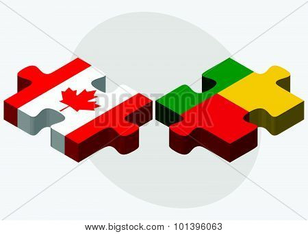 Canada And Benin Flags