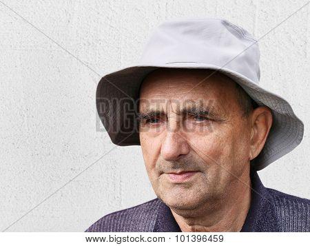 Closeup Portrait Of A Happy Aged Man