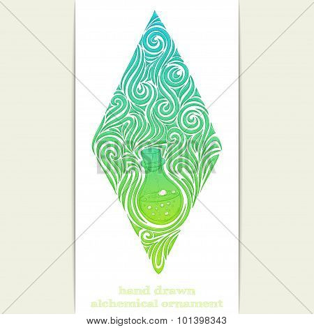 Abstract Ornament Alchemical Bottle