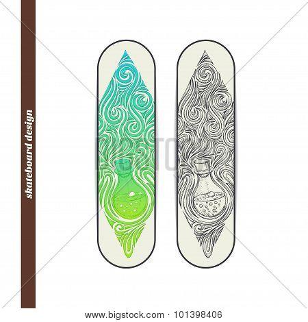 Skateboard Design Alchemical Bottle