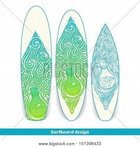 Surfboard Design Alchemical Bottle