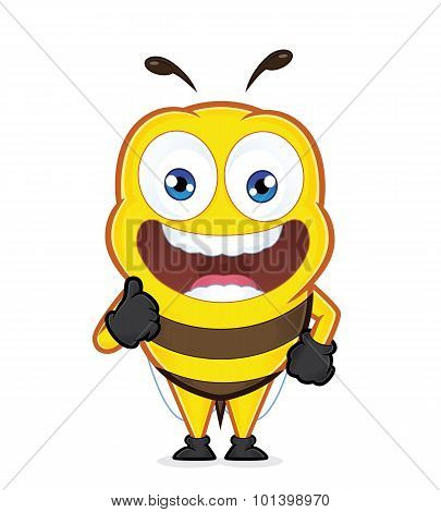 Bee giving thumbs up