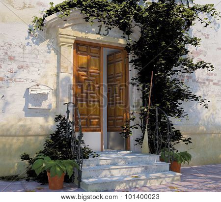 Beautiful Staircase And Door