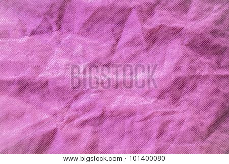 Pink Crumled Fabric Wrinkles Background