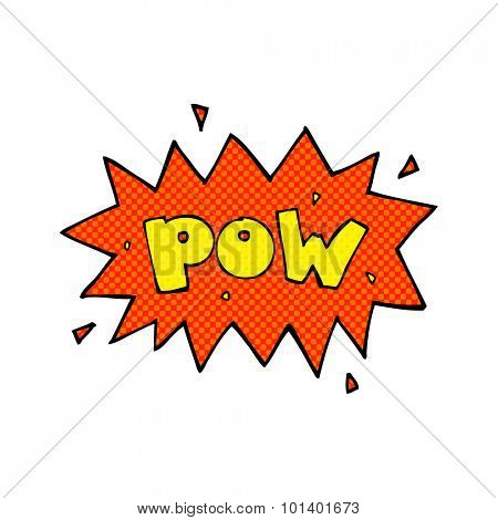 comic book style cartoon comic book pow symbol