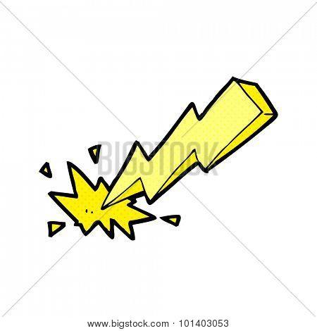 comic book style cartoon thunderbolt