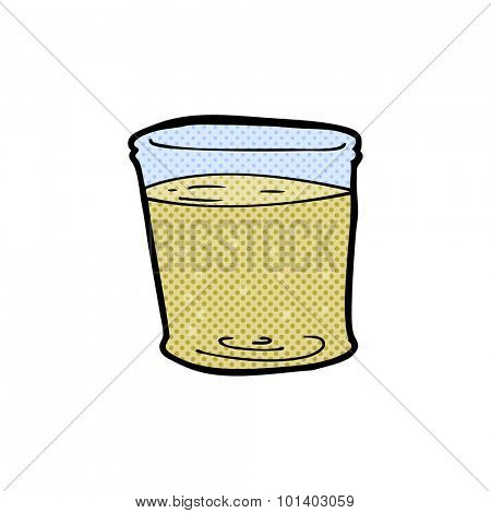 comic book style cartoon whiskey glass