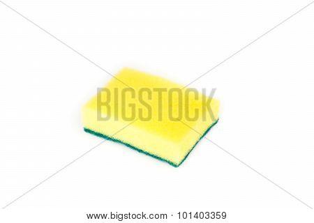 Sponges For Dishwashing Isolated