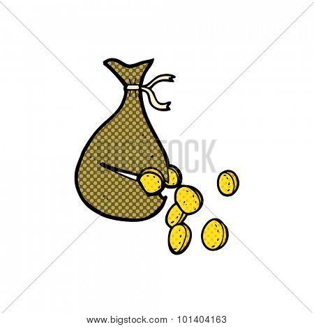 comic book cartoon bag of money