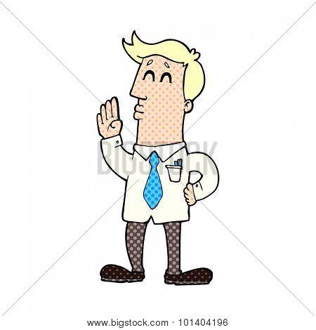comic book cartoon businessman