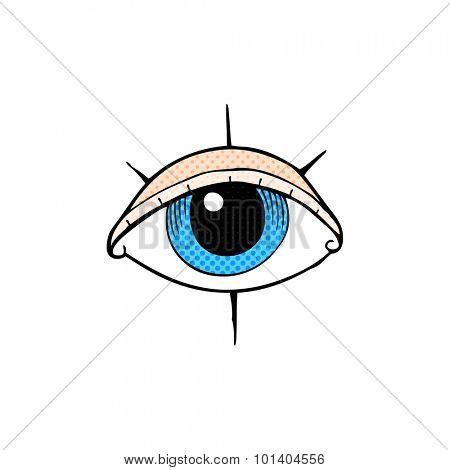comic book style cartoon tattoo eye symbol