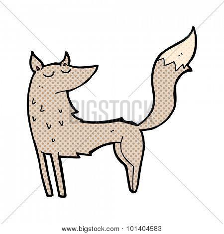 comic book cartoon wolf