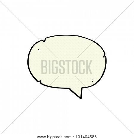 comic book style cartoon speech balloon