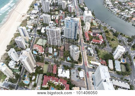 Gold Coast Q1 rooftop view looking down