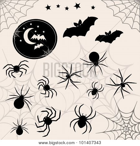 Halloween Vector Symbols Collection.