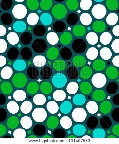 Vector polka dot pattern