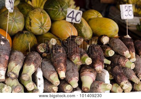 Taro In Local Market, Thailand