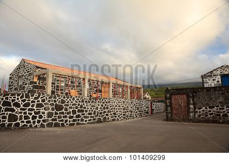 Traditional old houses of Pico Island in Azores
