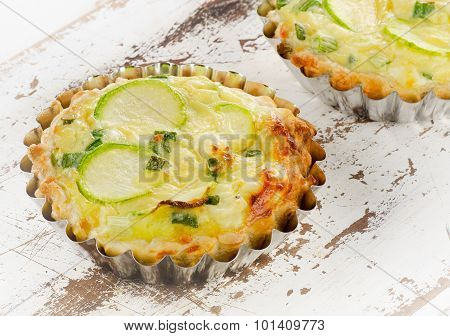 Tarts With Zucchini And Cheese