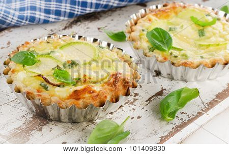 Tart With Zucchini And Cheese