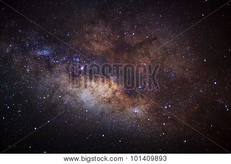 milky way, Long exposure photograph, with grain