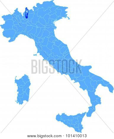 Map Of Italy, Lecco
