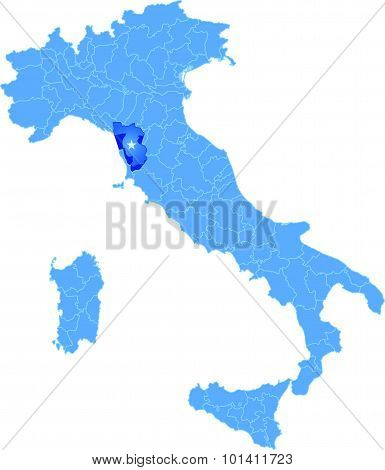 Map Of Italy, Pisa