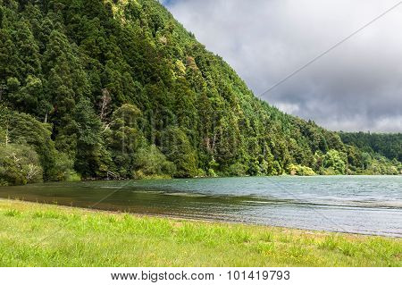 Furnas Lake In Sao Miguel, Azores Islands