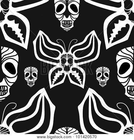 Scull seamless pattern.
