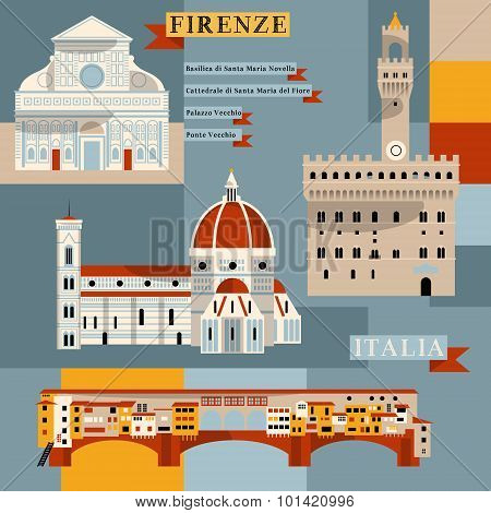 Sights Of Florence. Italy, Europe.